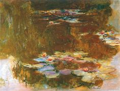 Claude Monet, Water Lily Pond, 1917 Monet Paintings, Landscape Paintings, Lily Pond, Claude Monet, Contemporary Paintings, Pond Painting, Monet Water Lilies, Impressionist Paintings, French Art