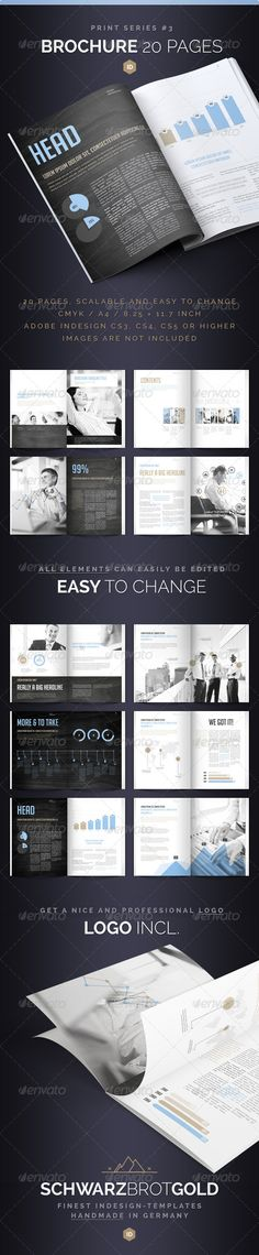 Brochure 20 Pages Series 3 #light #catalogue Download : https://graphicriver.net/item/brochure-20-pages-series-3/2831180?ref=pxcr