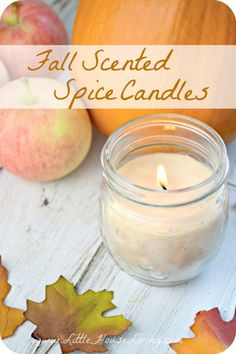 Spiced Candles for Fall. You can make this lovely fall spiced candles with things already in your kitchen, without using artificial fragrances or purchasing anything extra. They are perfect for filling your house with yummy smells! Get the recipes and tutorials via
