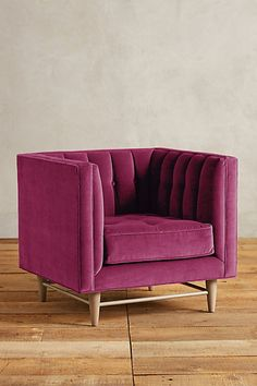 Velvet Marryn Chair #anthropologie--check the website for a myriad of colors...I like the wheat and white...