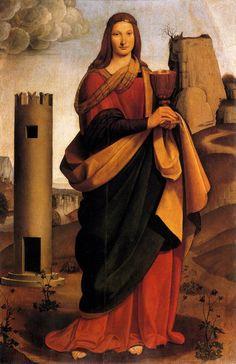 Giovanni Antonio Boltraffio  St. Barbara  1493-99