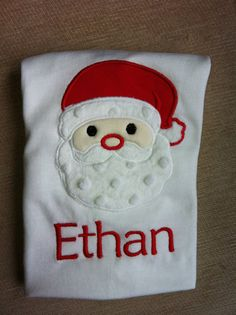 Santa Christmas Shirt for Kids  on Etsy, $24.00