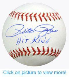 Pete Rose Autographed MLB Baseball Hit King PSA/DNA