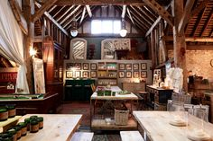 Inside the fabulous Home Barn in Little Marlow in Buckinghamshire in England run by Sarah and Sally.