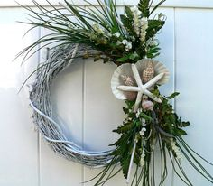 Beach Wreath for Wedding or HomeBEACHY WEDDING by BeachyWreaths