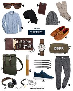 The Everygirl's 2015 Holiday Gift Guide | Gifts for the Guys #giftguide #giftsforguys