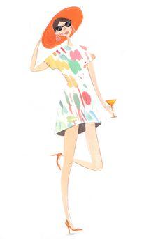 summer dress illustration Emma Block