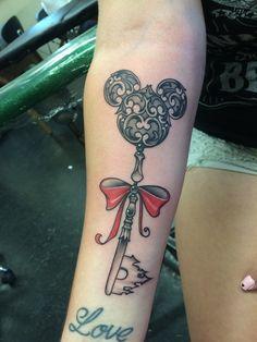 Disney key tattoo
