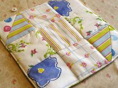 Blue Flower Pot holder Hotpad Patchwork Kitchen Home Decor | countrygarden - Housewares on ArtFire