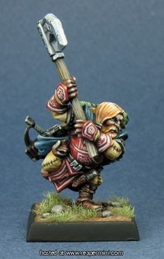 60004: Harsk, Iconic Male Dwarf Ranger  Reaper Miniatures :: Miniatures