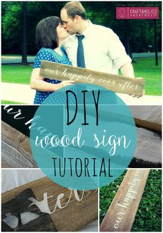 How to make this rustic wooden sign PLUS an easy tip to keep your paint from bleeding!     Craftaholics Anonymous®