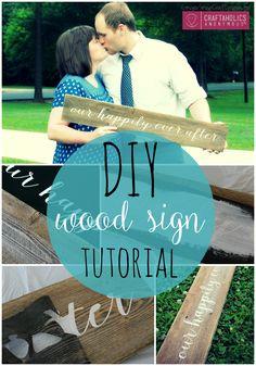 DIY Wood Sign Tutorial GingerSnapCrafts.com