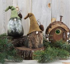 Woodland Gnome THORNE the Wizard 6 Tall di RusticSpoonful su Etsy