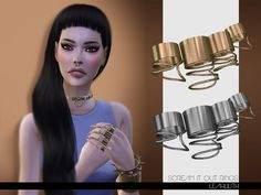The Sims Resource: Scream It Out Rings by LeahLilith • Sims 4 Downloads