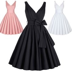 Retro Vintage 50S 60S Wiggle Flared Dress Evening Cocktail Party Swing Dress