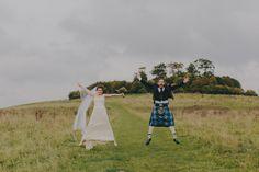 Jumping for joy on the Clumps! Catriona & Euan, Oct 2016 ~ Tori Hancock