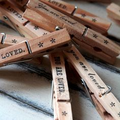 Clothespin Note Holder