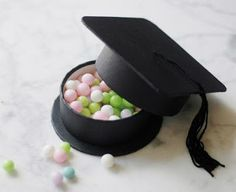 The tassel is worth the hassle! Celebrate this amazing accomplishment with these Graduation Hat Favor Boxes as your graduation party favors! Graduation Party Favors, Graduation Party Decor, Graduation Cards, College Graduation, Grad Parties, Graduate School, Graduation Desserts, Graduation Ideas, Graduation Centerpiece