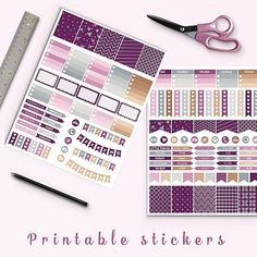 OFF Lavender Planner Stickers, Printable Planner Stickers, Erin Condren… Types Of Planners, Day Planners, Printable Planner Stickers, Printables, Chalkboard Stickers, Sticker Shop, Erin Condren, Life Planner, Craft Items