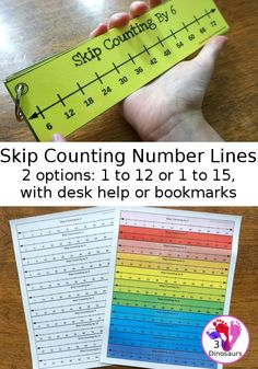 Free Skip Counting Desk Help & Number Line Bookmarks - help desk pages for 2 to 12 or 2 to 15 plus skip counting number line bookmarks for 1 to 12 or 1 to 15  - 3Dinosaurs.com #skipcounting #mathhelp #3dinosaurs #mathprintables