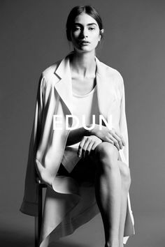 Marine Deeleuw for Edun Spring/Summer 2014 Campaign. By Danielle Sherman.