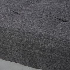 Méridienne en tissu gris chiné