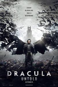 #DraculaUntold Prince Vlad (#LukeEvans) and his family live peaceful lives ruling over their small kingdom until a rival king demands the first born male of every family to join his army. Unwilling to give up his son, Vlad seeks a way to defeat his enemies by giving into darkness and becoming a monster all will fear: Dracula.
