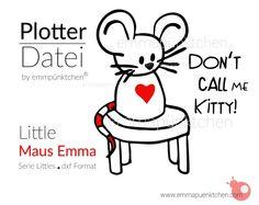 """∙ • Plotterdatei """"Little Emma Maus"""" • ∙ von Emma & Pünktchen DIY auf DaWanda.com"""