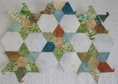 Marie's Blog: Quilt and work.  Lovely quiet colors.  Peaceful.