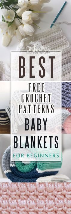 Whether you are looking for a unique pattern for a new-born grandchild or need a unique hand-made gift for an upcoming baby shower, these projects are a delight to crochet. We've created a perfect tasteful collection of easy crochet projects for beginners. You can pick one right now to crochet and save the rest for the future. #freecrochetpatterns #crochetbabyblankets