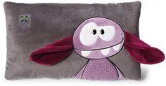 Monster 'Hah' Cushion - Purple