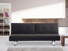 Rozkładana sofa ruchome oparcie - DUBLIN ciemny szary Kupuj bez ryzyka z odroczonym terminem płatności z gwarancją 100 dni na zwrot towaru
