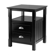 This attractive night stand with great detailing is an ideal addition to your bedroom. It has a different design and is functional for your bedtime need. It is also equipped with an open shelf for you