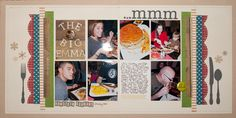 6 photo scrapbook layout