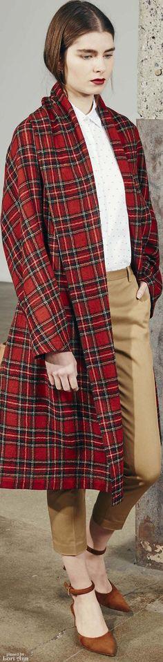 ℳiss Tallulah Tatum wears her nova check, plaids and classic tartan  Poppy Pea  Rosetta Getty Pre-Fall 2016