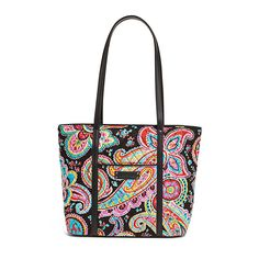 Vera Bradley Small Trimmed Vera Tote in Parisian Paisley at The Paper Store e2942ea982