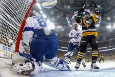 Tom Kuhnhackl : NHL Stanley Cup playoffs: Must-see conference finals photos Stanley Cup Playoffs, Stanley Cup Finals, Hockey Teams, Ice Hockey, Bruce Bennett, Eastern Conference Finals, Lets Go Pens, First Period, Blue Shark