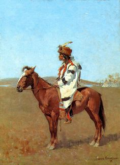 A Blackfoot Chief by Frederic Remington #art