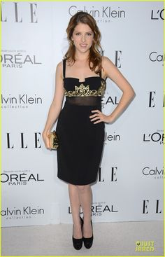 Anna Kendrick in Badgley Mischka at the 2012 Elle Women in Hollywood celebration