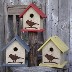 Folk Art Birdhouse-WALLL<3