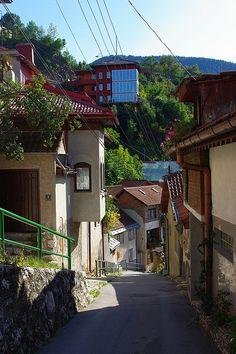 Downhill in Sarajevo, Bosnia and Herzegovina (by...