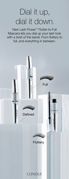 How to get the perfect lash look: Clinique's custom-lash mascara dials up the volume from flirty to full-on phenomenal with a twist of a barrel. Resists smudges and smears for up to 24 hours yet removes easily with warm water. Change your lash, change your look.