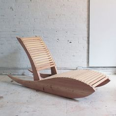 Lounge Chair - The ultimate in whiling away an afternoon is the rocking chair. This chair is a modern fusion of an Adirondack chair and a rocking chair. It's a bit of a low rider, which makes it a little tough to get in, but once you do, it's so comfortable that you won't want to get out. #diy #ryobination