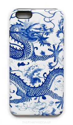 This Blue and White Chinese Dragon iPhone Case is for anyone who loves blue and white, Chinese dragons, or Chinoiserie.