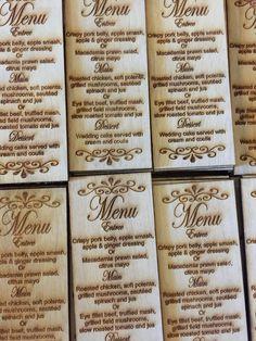 Our Wedding menu's