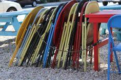 Chairs at a Food Trailer,   Austin TX 2011