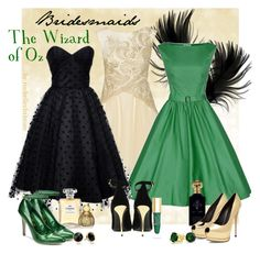 """""""Wizard of Oz Wedding"""" by rochellechristine ❤ liked on Polyvore featuring Notte by Marchesa, Iconic by UV, Chanel, Clive Christian, Shellys, Balmain, Bling Jewelry, Julep, Trina Turk LA and vintage"""