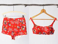 retro red bikini  #vintage   #swim  #floral