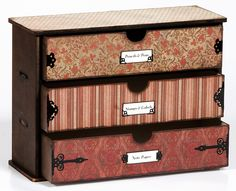 dresser drawer projects   Chest, scrapbooking supplies,