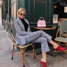 55 Fall Street Style Outfits to Inspire You Summer Work Outfits, Office Outfits, Fall Outfits, Formal Outfits, Office Attire, Work Attire, Sweater Outfits, Trend Fashion, Fashion Looks